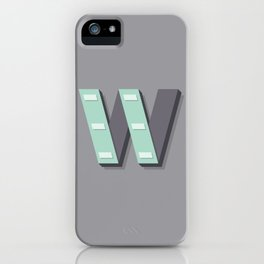 The Letter W iPhone Case