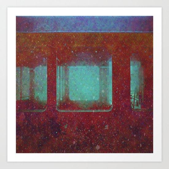 Into the City, Structure Windows Grunge Art Print
