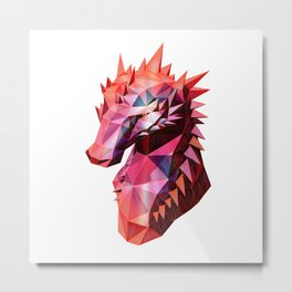 The Scorched Dragon Metal Print