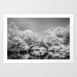 Gapstow Bridge, Central Park in Infrared Art Print
