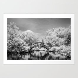 Gapstow Bridge, Central Park in Infrared Art Print