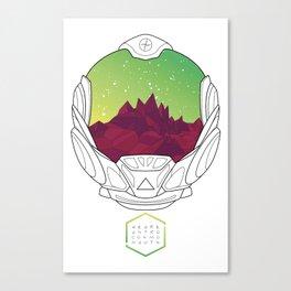 Helmet III (Green Space) Canvas Print