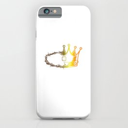 Religious Christian Faith Religion God Gift Thorn Crown Jesus Believer iPhone Case