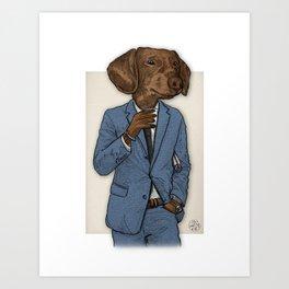 Good Morning, Dapper Doge Art Print