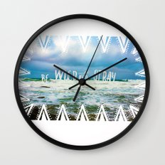 Be Wild and Stray. Wall Clock