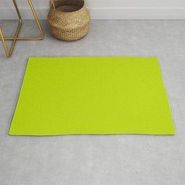 Lime Green Fluorescent Neon // Pantone 389 U Rug