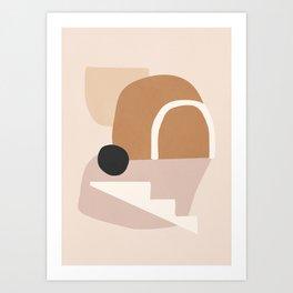 abstract minimal 24 Art Print