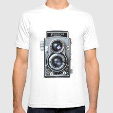 Flexaret Vinatge Camera MEDIUM White Mens Fitted Tee