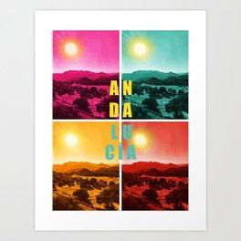 Colorful Andalusia Art Print