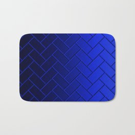 Herringbone Gradient Dark Blue Bath Mat