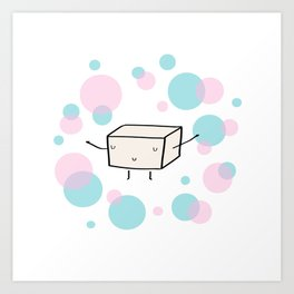 Mr Tofu Art Print