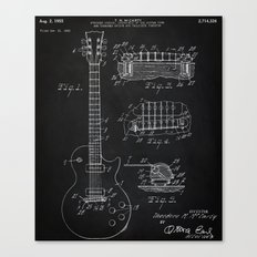 Gibson Guitar Patent Les Paul Vintage Guitar Diagram Canvas Print