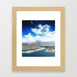 palm jumeirah Framed Art Print
