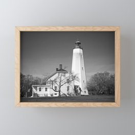 Sandy Hook Lighthouse Framed Mini Art Print