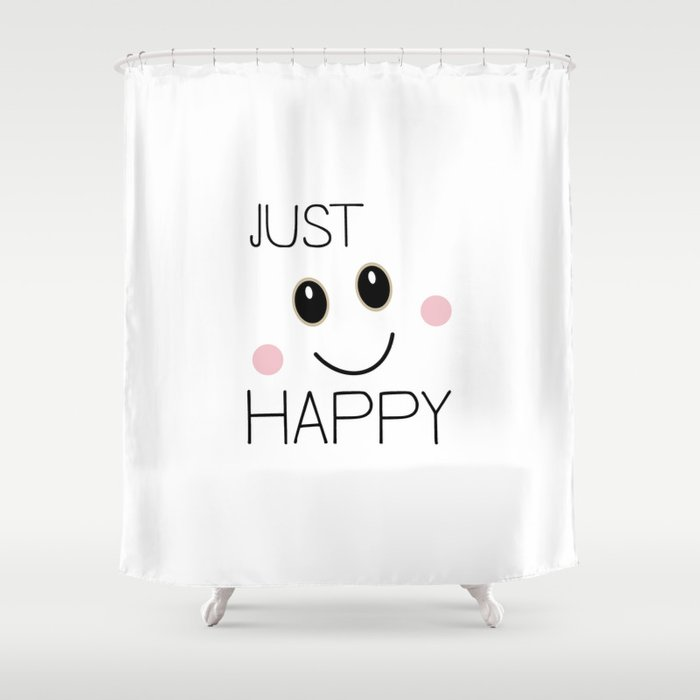 Just Happy Smiley Shower Curtain