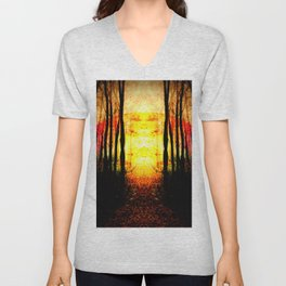 Path To Imagination Golden Unisex V-Neck