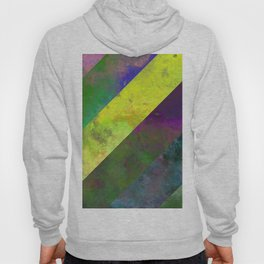 45 Degrees - Abstract, textured, diagonal stripes Hoody