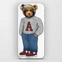 teddy bear iPhone & iPod Skins featuring teddy bear by ulas okuyucu
