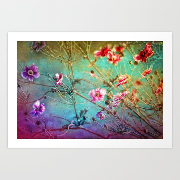 FLEURS DU PRÉ - Wildflowers in painterly style Art Print
