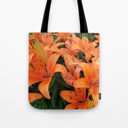 Orange Lillies Tote Bag