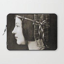 Bianca Sforza by Leonardo da Vinci Laptop Sleeve