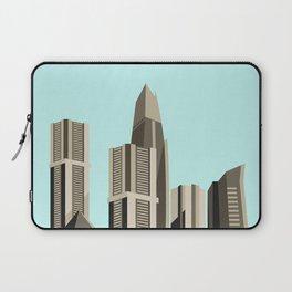 Modern City Blue Sky Laptop Sleeve