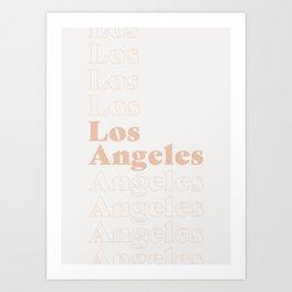 Los Angeles Type - Pink Art Print