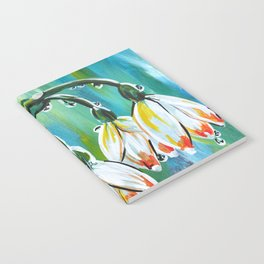 Drips on droopy flowers Notebook