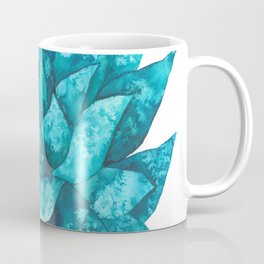 Watercolor spiky succulent - turquoise Coffee Mug