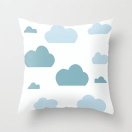 Cloud blue Throw Pillow