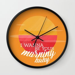 be your morning Wall Clock