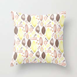 Abstract Watercolor Pattern Throw Pillow