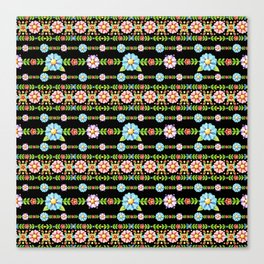 Millefiori Boho Chic Stripe Canvas Print