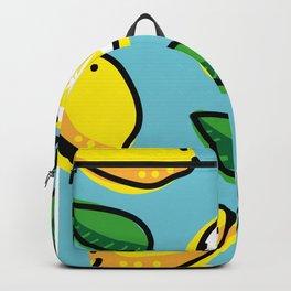 Lemons and leaves Backpack