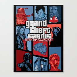 Grand Theft Tardis - City of London Canvas Print