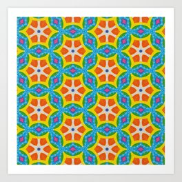 Fruity Retro Tropic Art Print
