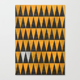 Triangles - White Canvas Print