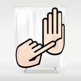 Lansing Michigan Hand Map Shower Curtain