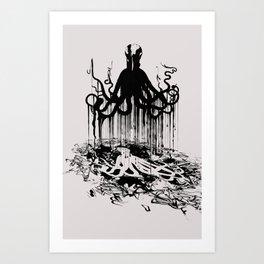 Ink_Octopus Art Print