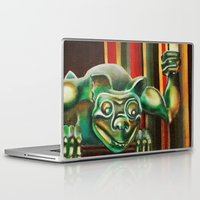 """haunted mansion Laptop & iPad Skins featuring Disneyland Haunted Mansion inspired """"Wall-To-Wall Creeps No.2"""" by ArtisticAtrocities"""