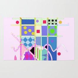 Pink Abstract Rug