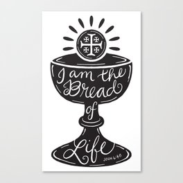 Catholic Communion Bread of Life Canvas Print