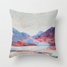 Fall Mountains Throw Pillow
