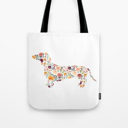 Dachshund - Watercolor/Floral Tote Bag