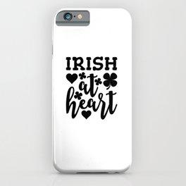Irish At Heart Black iPhone Case