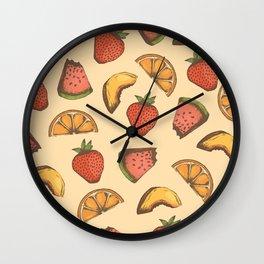 Fruit Pattern Wall Clock