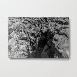 FOSSIL FALLS, CALIFORNIA Metal Print