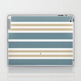 HERRINGBONE STRIPE VI - BLUE LAGOON Laptop & iPad Skin