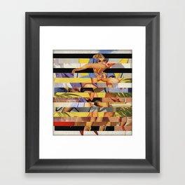 Glitch Pin-Up Redux: Courtney Framed Art Print