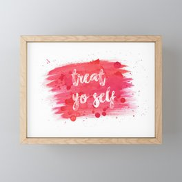 Treat Yo Self Framed Mini Art Print